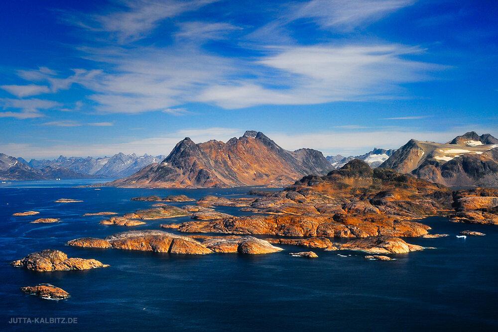 Küstenlandschaft bei Ammassalik- Ostgrönland