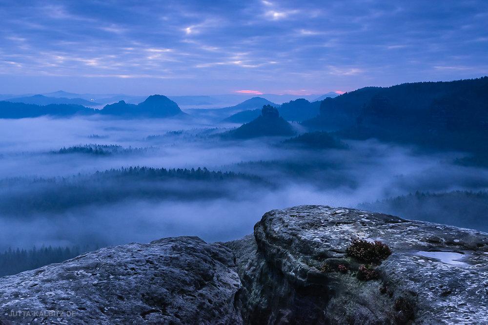 Blaue Stunde - Sächsische Schweiz